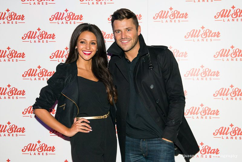 MICHELLE KEEGAN AND MARK WRIGHT AT ALL STAR LANES MANCHESTER