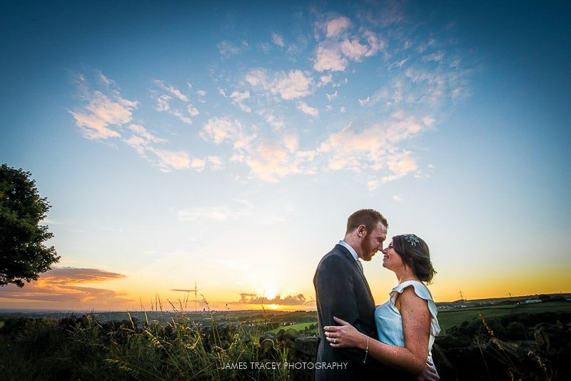 White Hart Lydgate Wedding Photography sunset