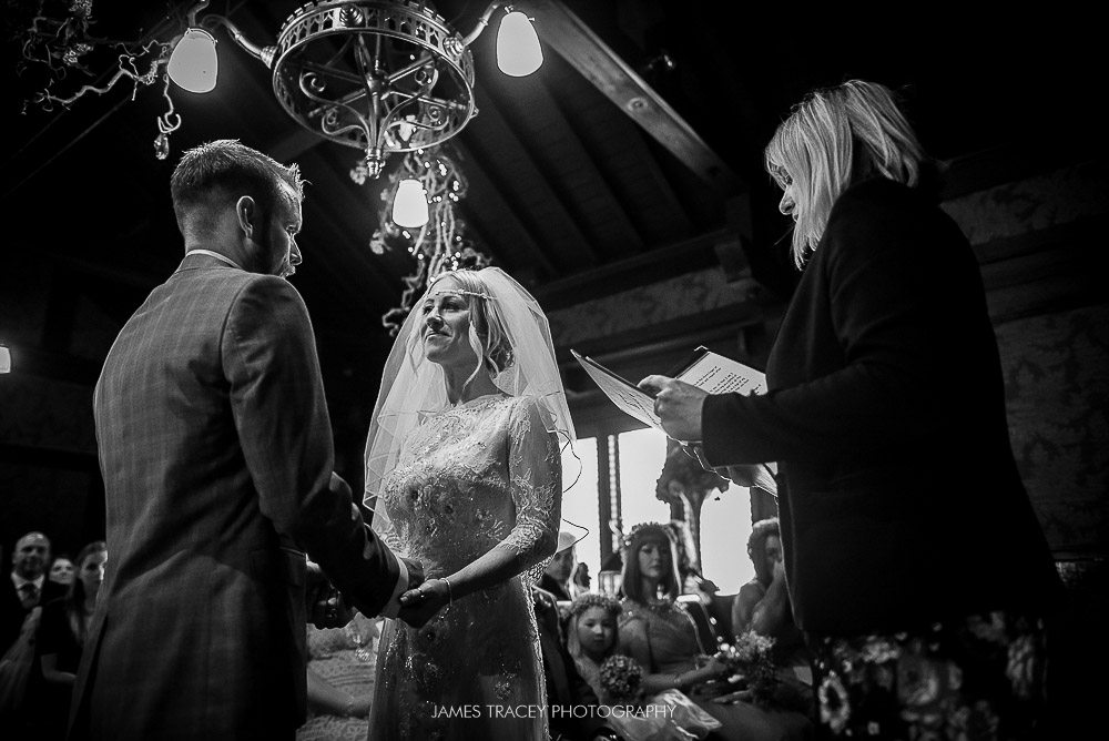 black and white photo of wedding