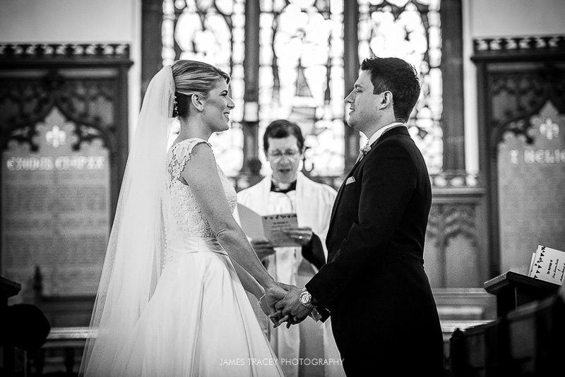 bride and groom at pott shrigley church