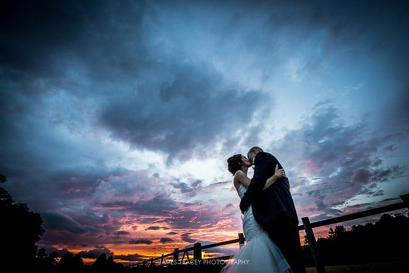 sunset at knowsley hall wedding