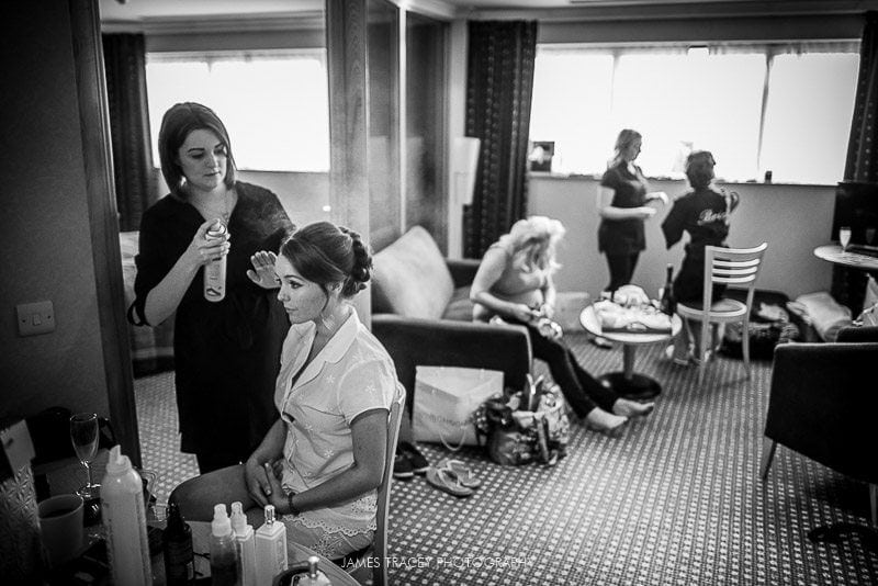 bridal preparation for a wedding