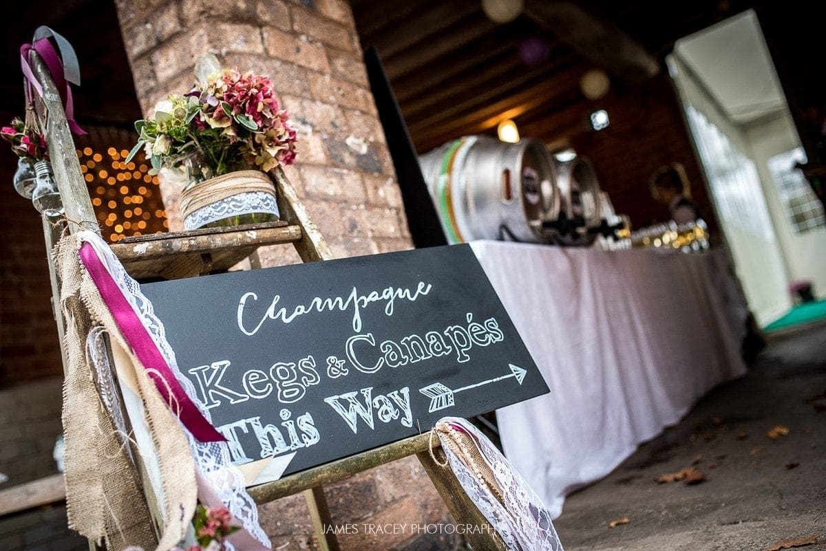 sign at pimhill farm wedding