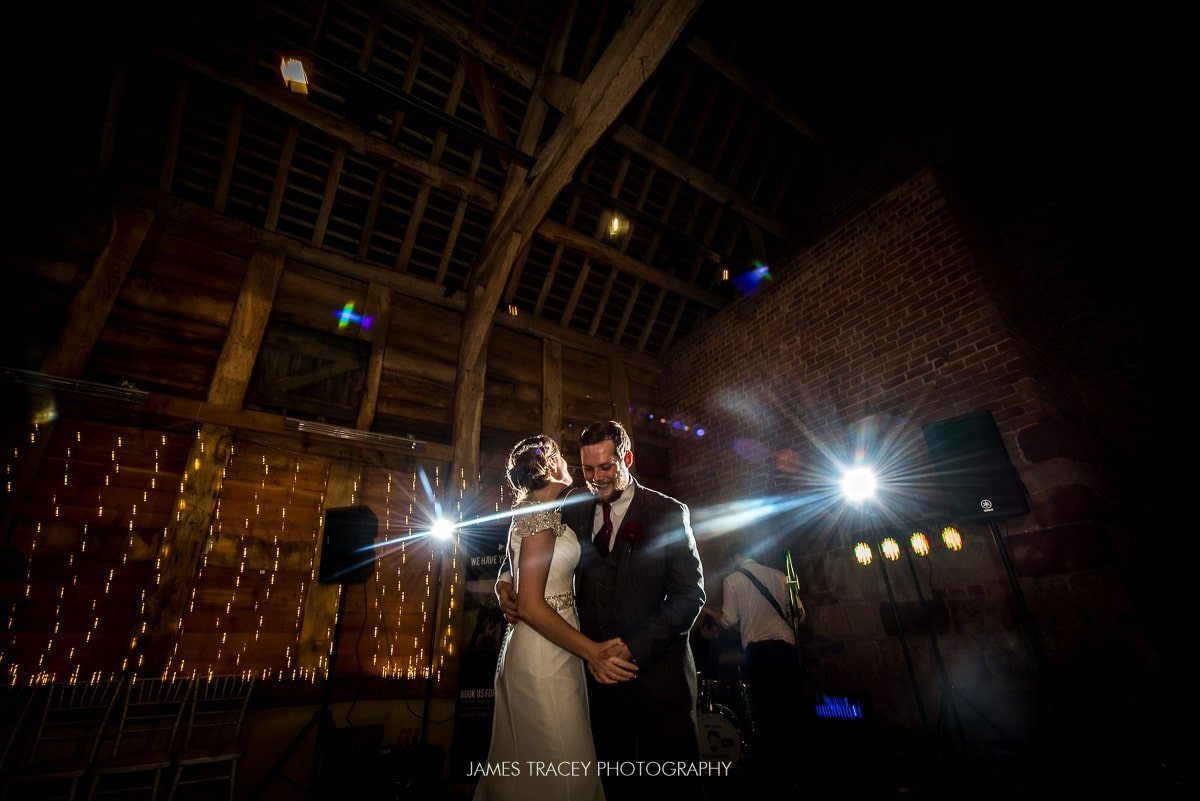 backlit photo of first dance.