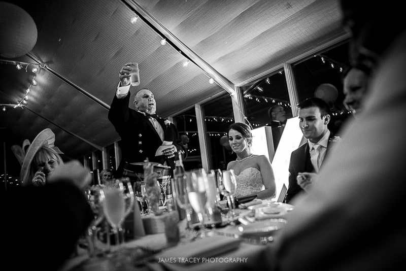father of the bride toasting wedding