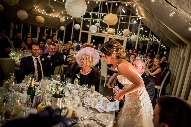 bride cracking a joke