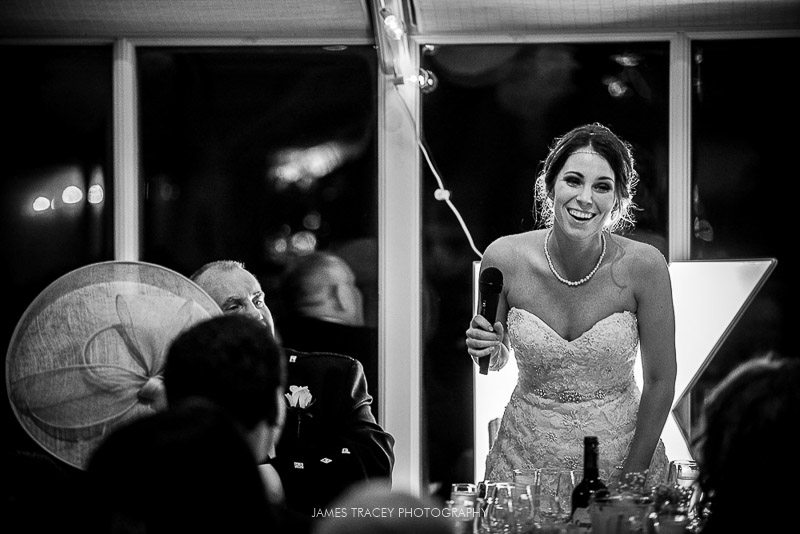 bride doing a speech