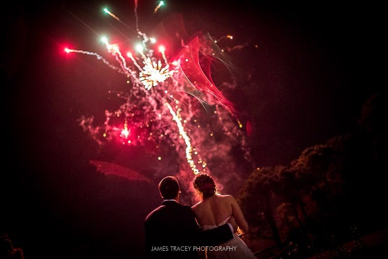 fireworks at abbeywood estate wedding