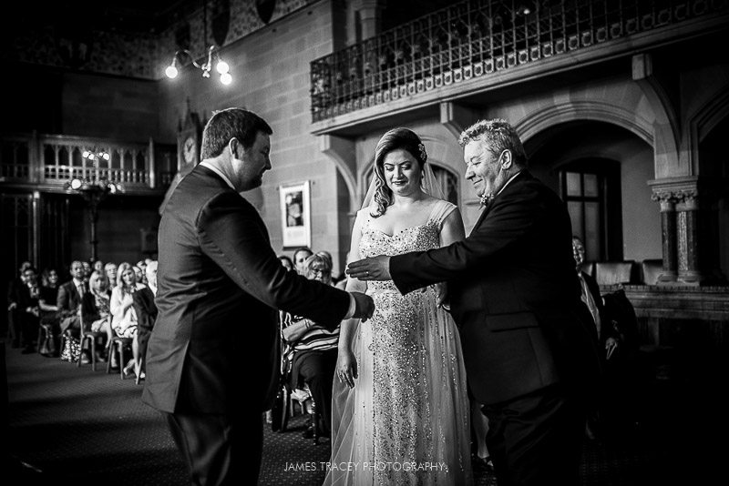 handing over of the brides hand