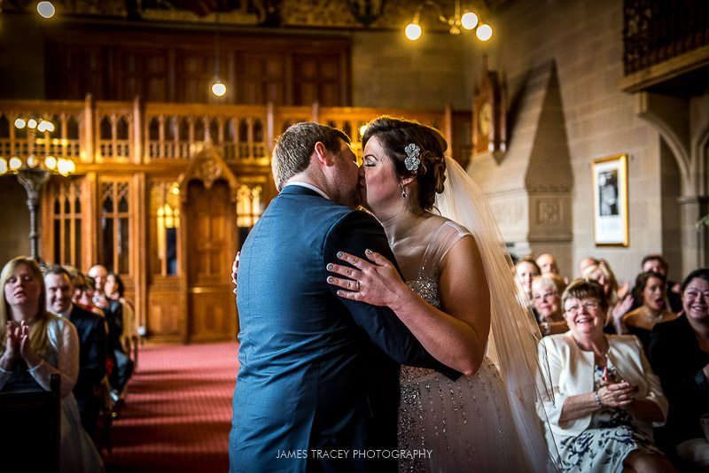 first kiss at manchester town hall