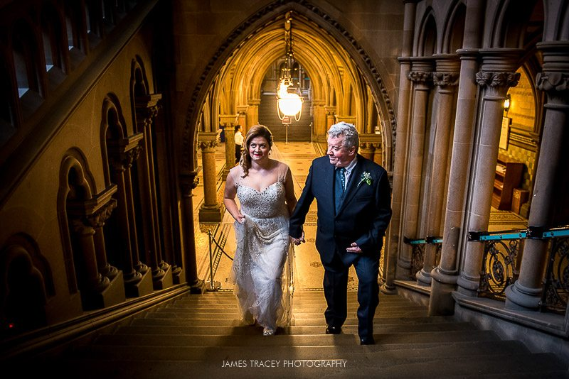 walking into manchester town hall