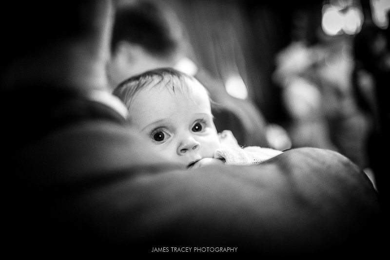 small baby at a wedding