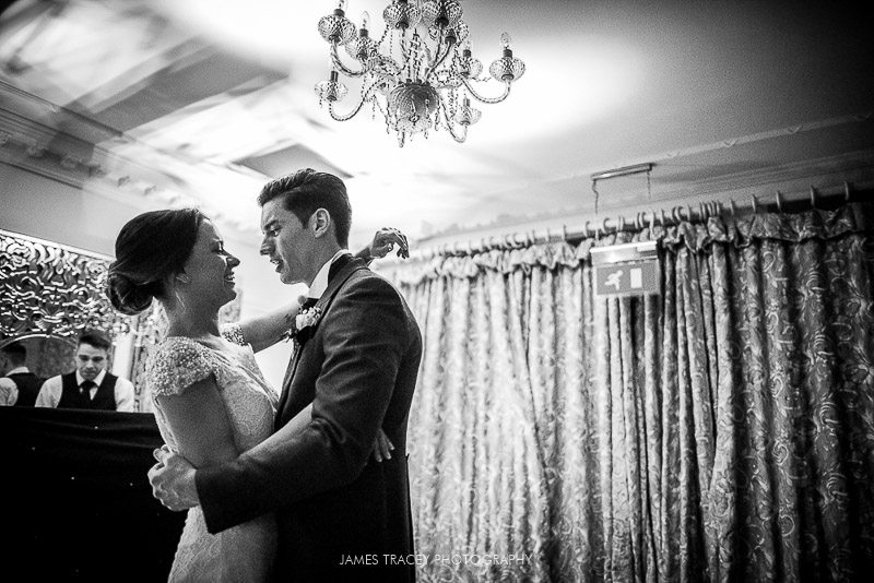 first dance at a wedding at eaves hall