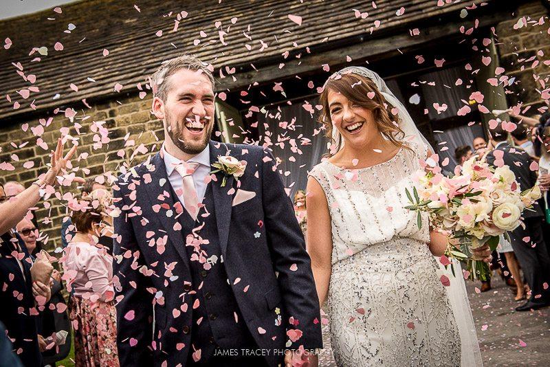 confetti shot at east riddleston hall wedding