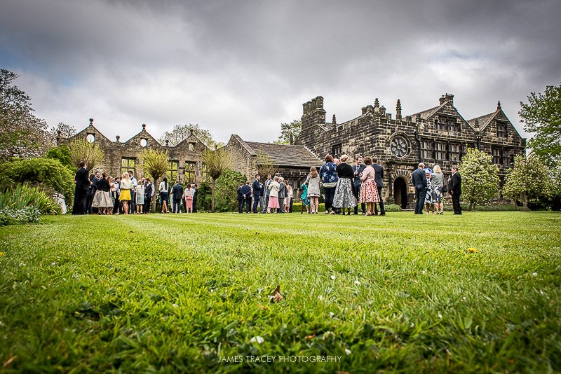 reception in the gardens at east riddleston hall