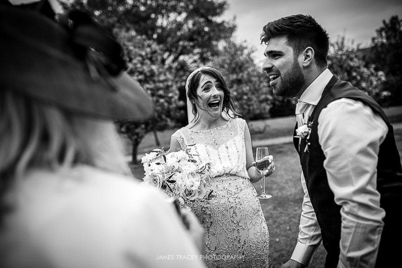 bride laughing loudly
