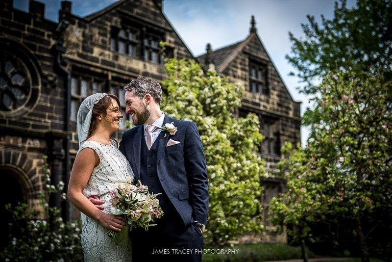 east riddleston hall wedding photography bride and groom posing
