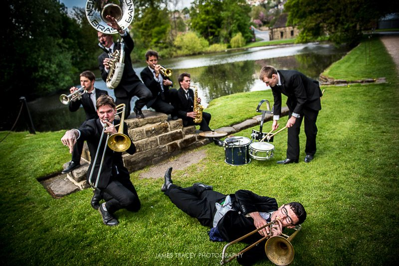 new york brass band sat down playing