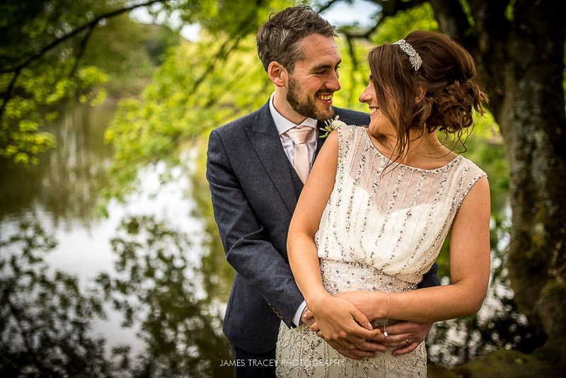 wedding photos outside east riddleston hall