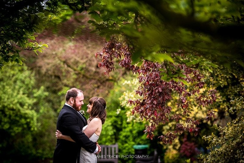 wedding couple in didsbury park