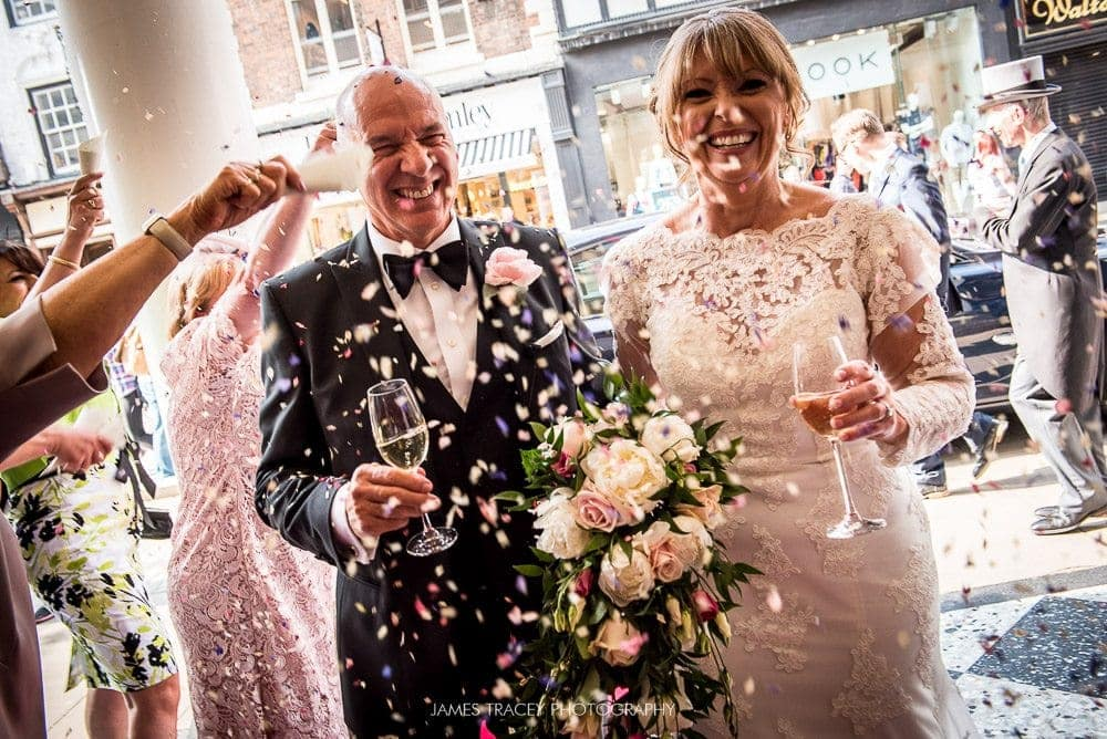 confetti photo at chester grosvenor