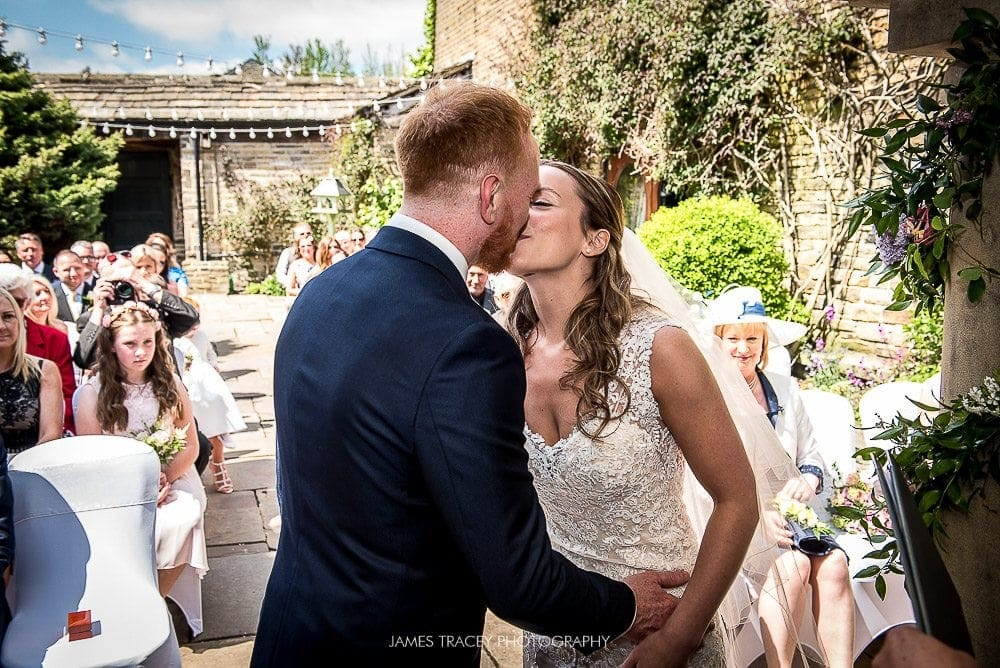 first kiss at holdsworth hosue wedding