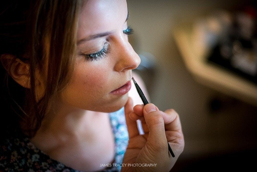 close up of make up being applied