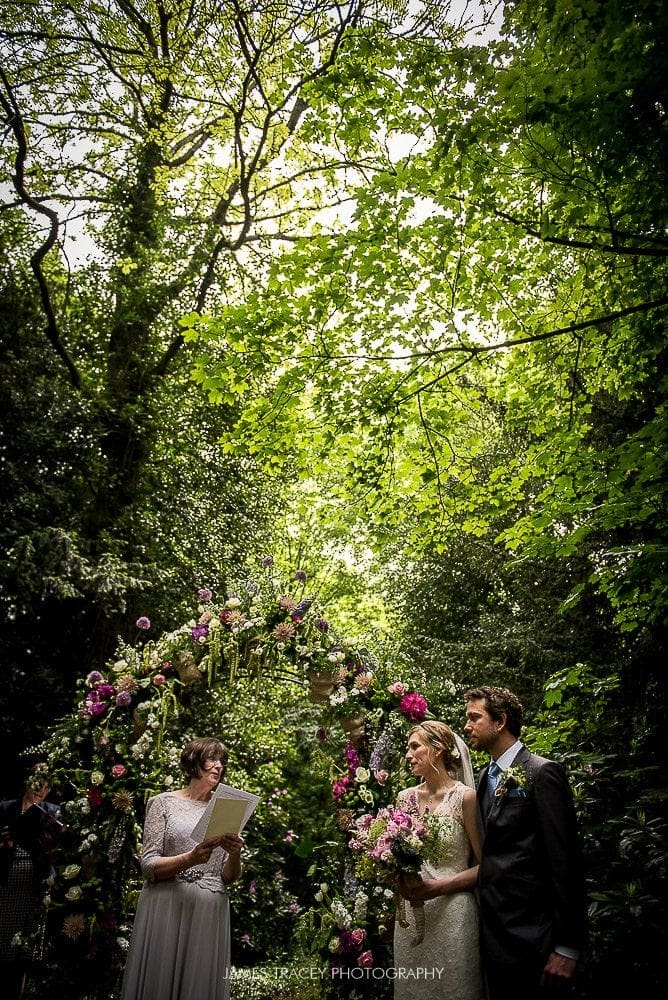 wedding in a forest