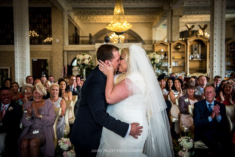 first kiss at 30 james street wedding