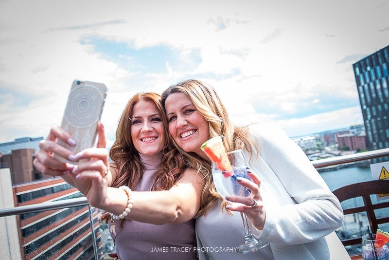 selfie at 30 james street wedding