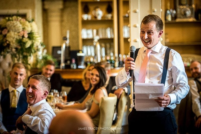 groom making his wedding speech