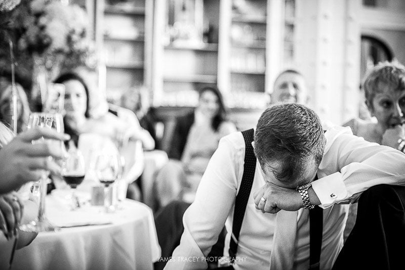 embarrassed groom during speeches at 30 james street