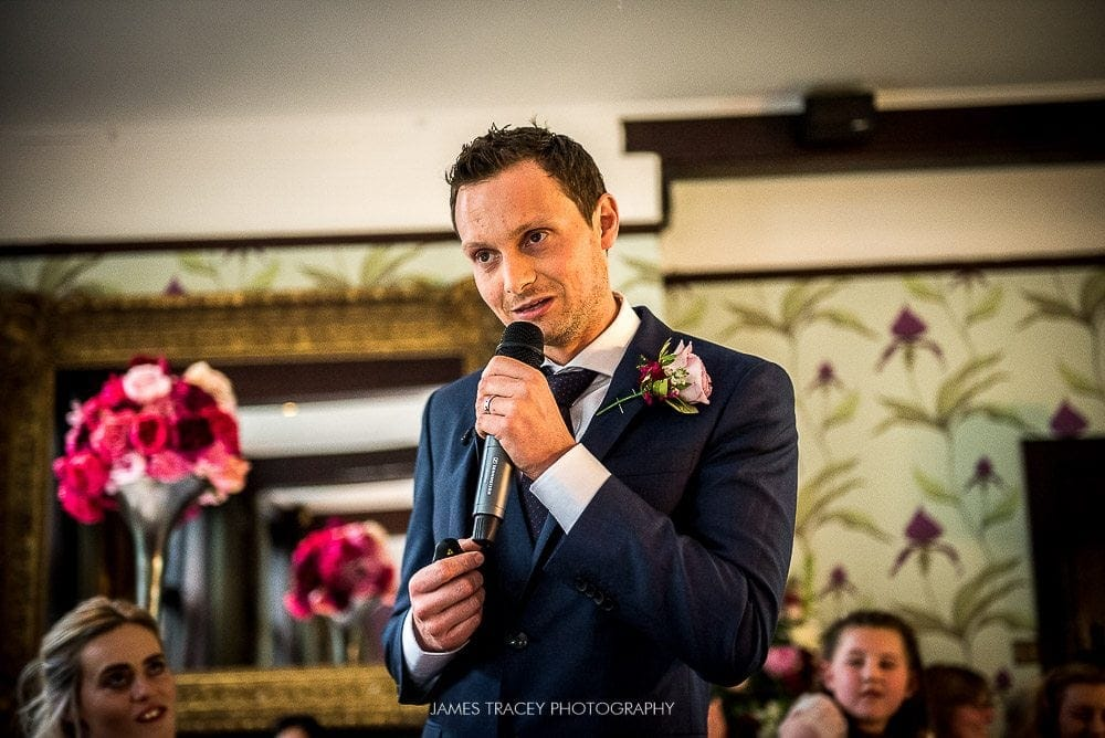 groom speaking