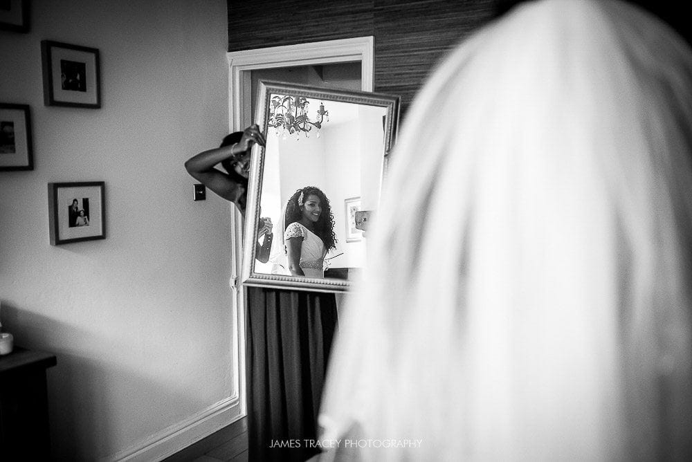 bride checking herself