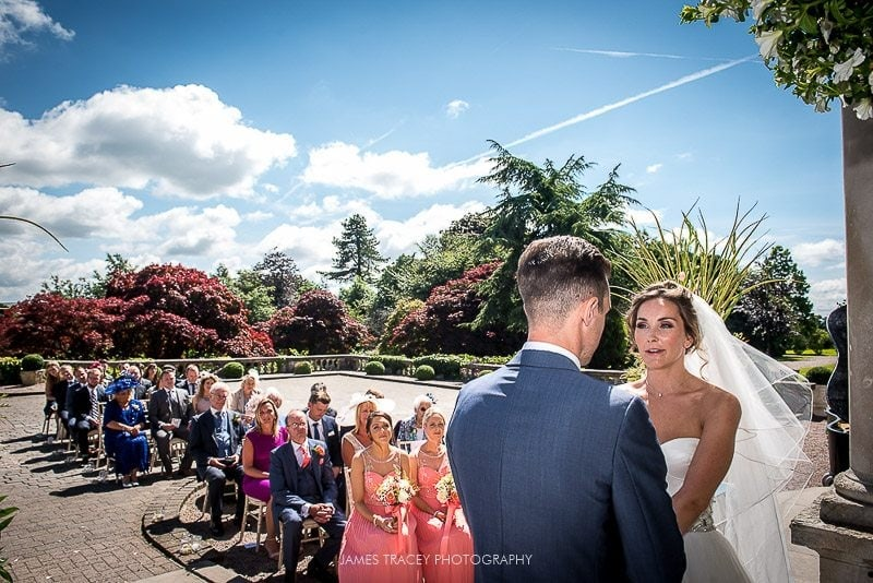 outdoor wedding at eaves hall