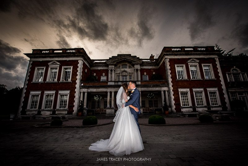 wedding photo at Eaves hall