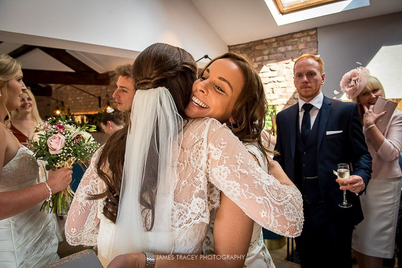 big wedding hugs