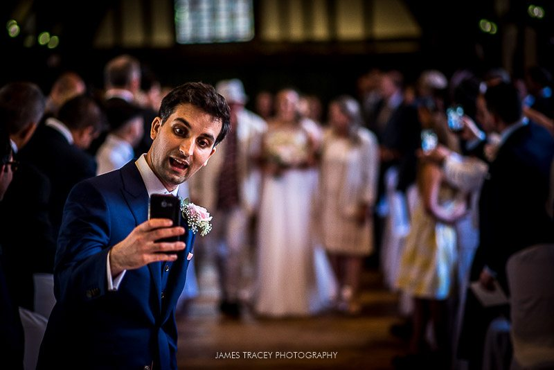 groom taking a selfie