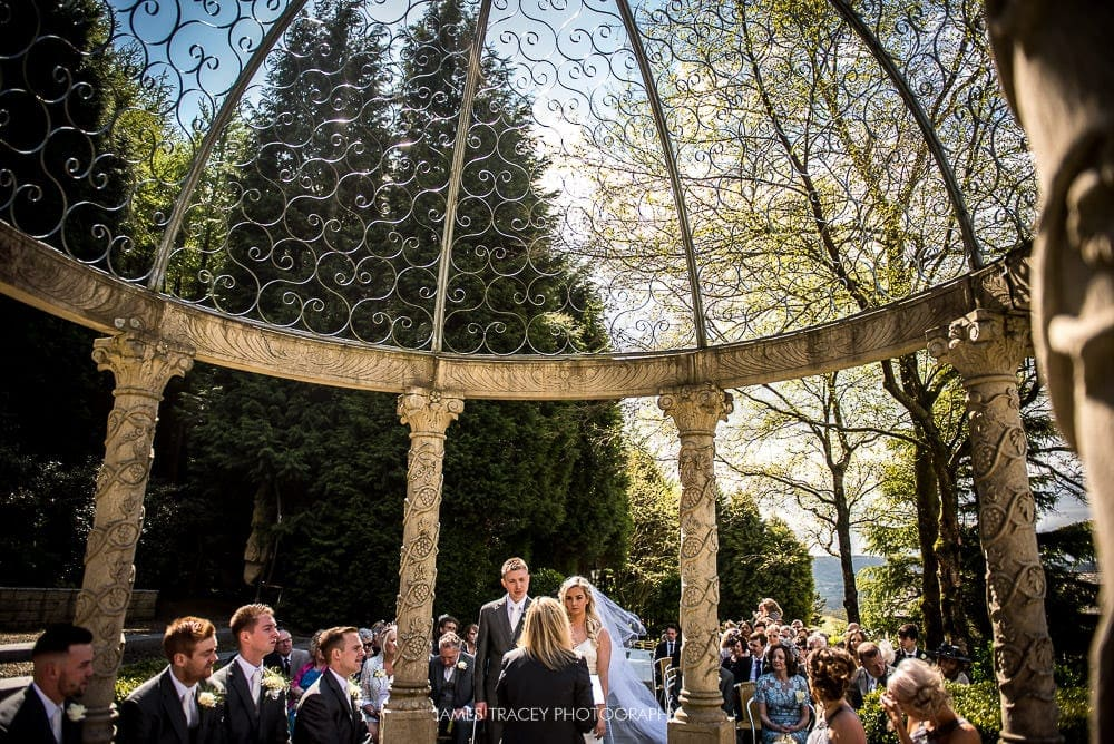 outdoor wedding at the saddleworth hotel