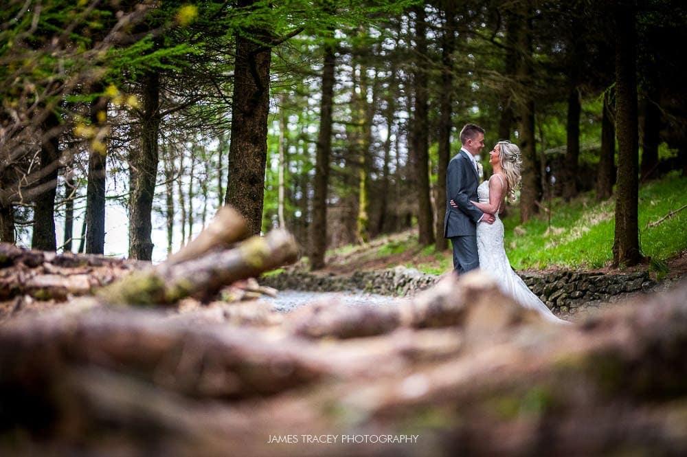 outdoor wedding at The Saddleworth Hotel