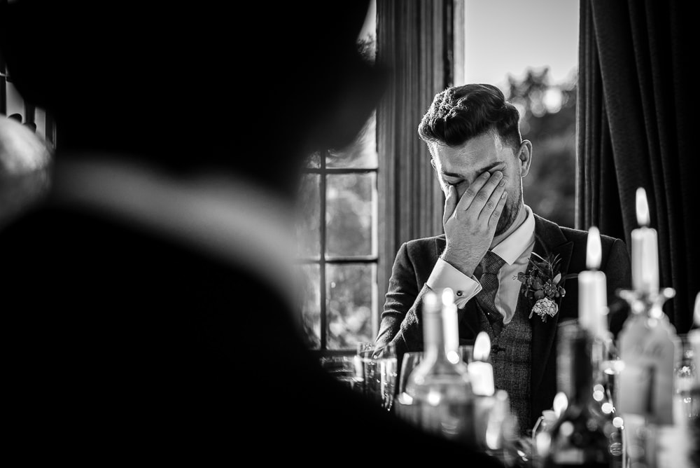 emotional groom at rushton hall