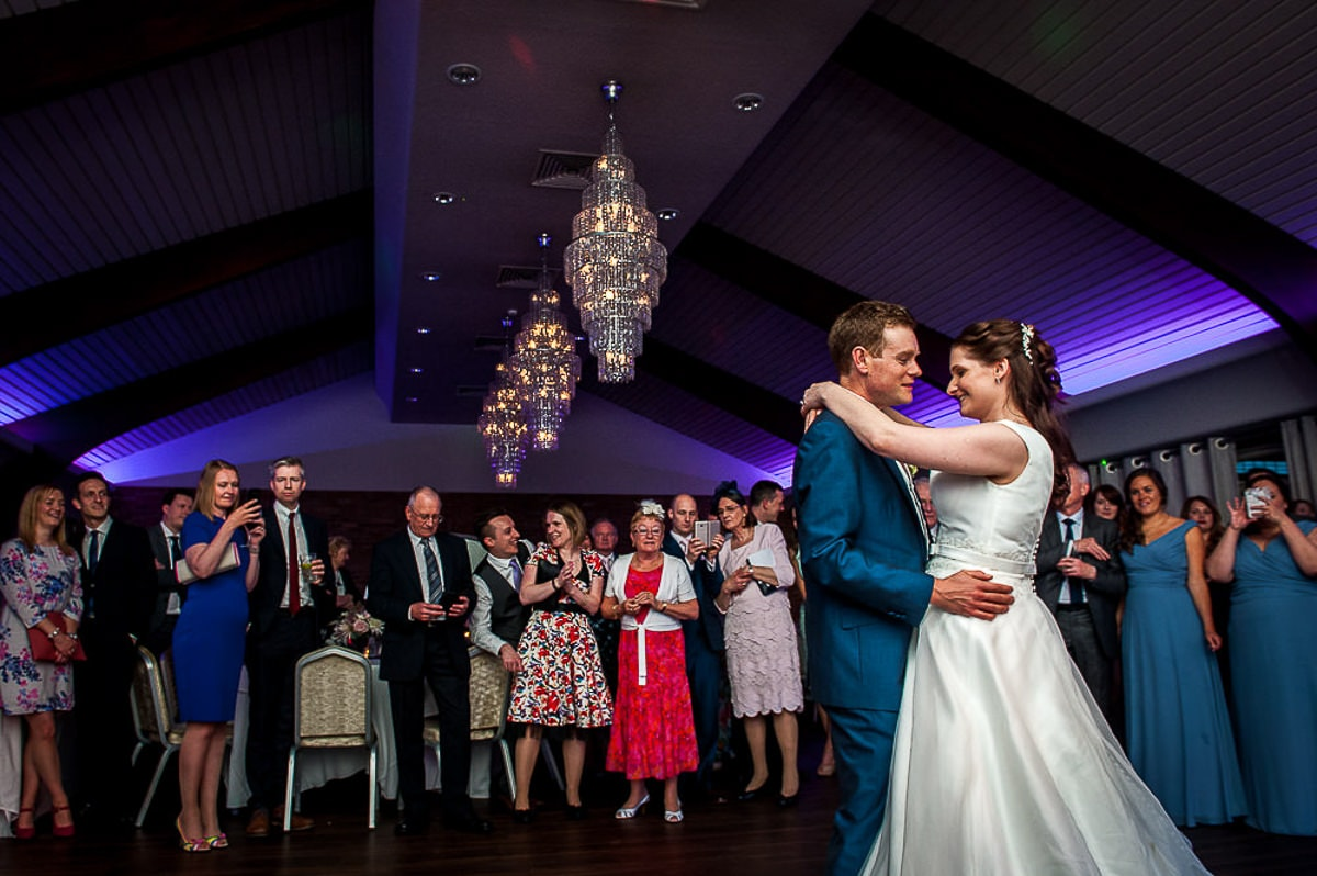 wedding dance at colshaw hall