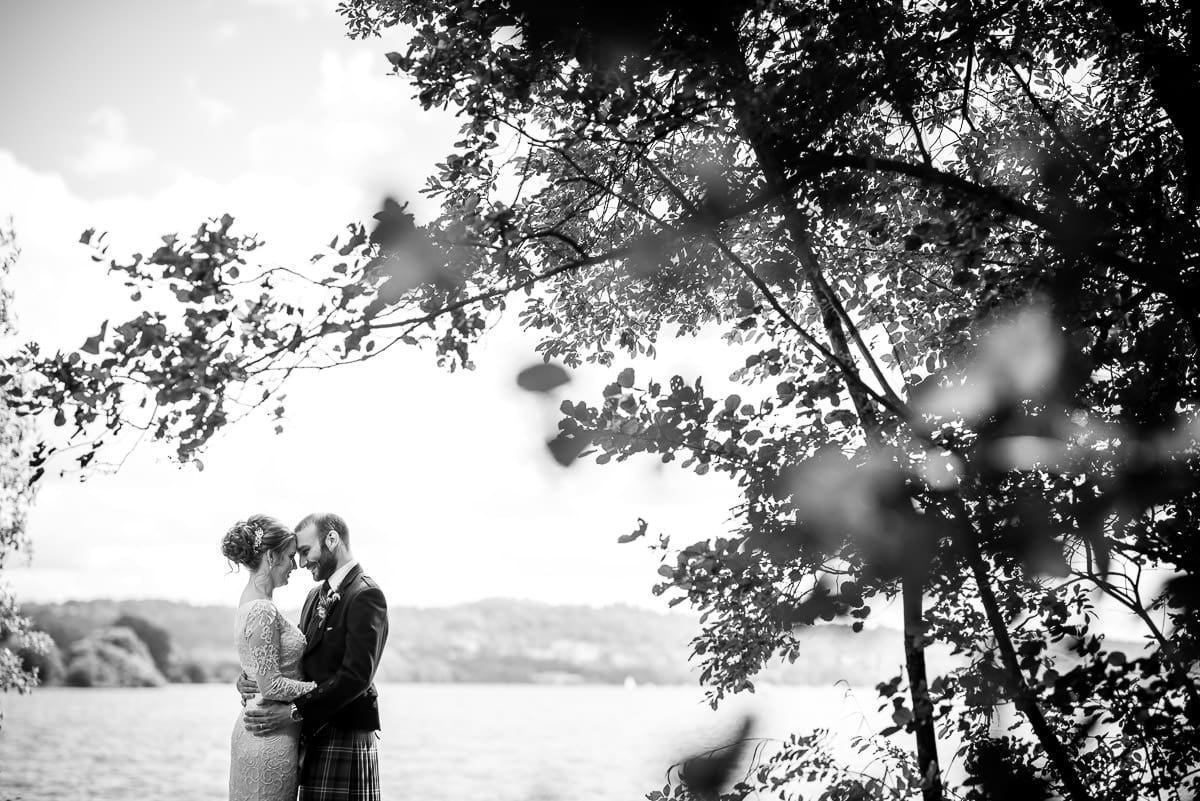 black and white couple at windermere