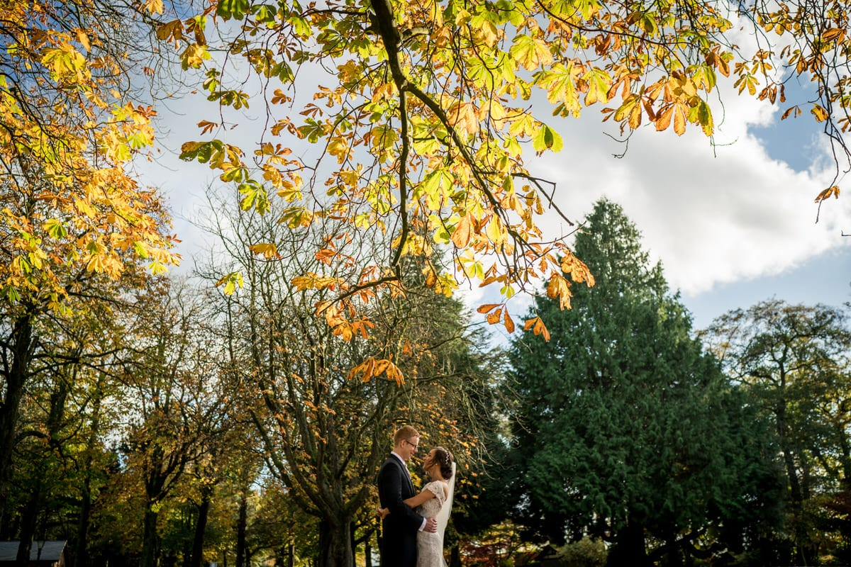 autumn wedding at colshaw hall