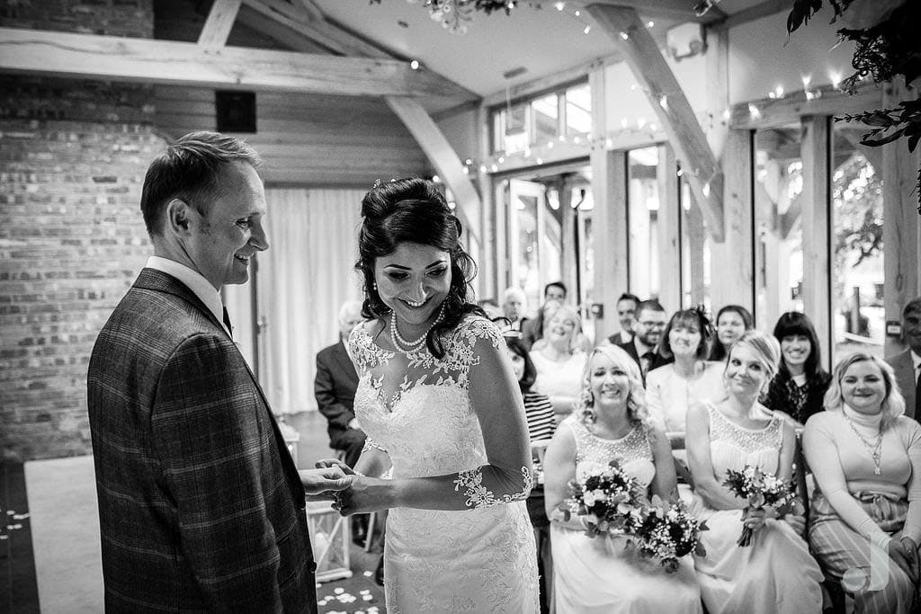 happy bride at oak tree of peover