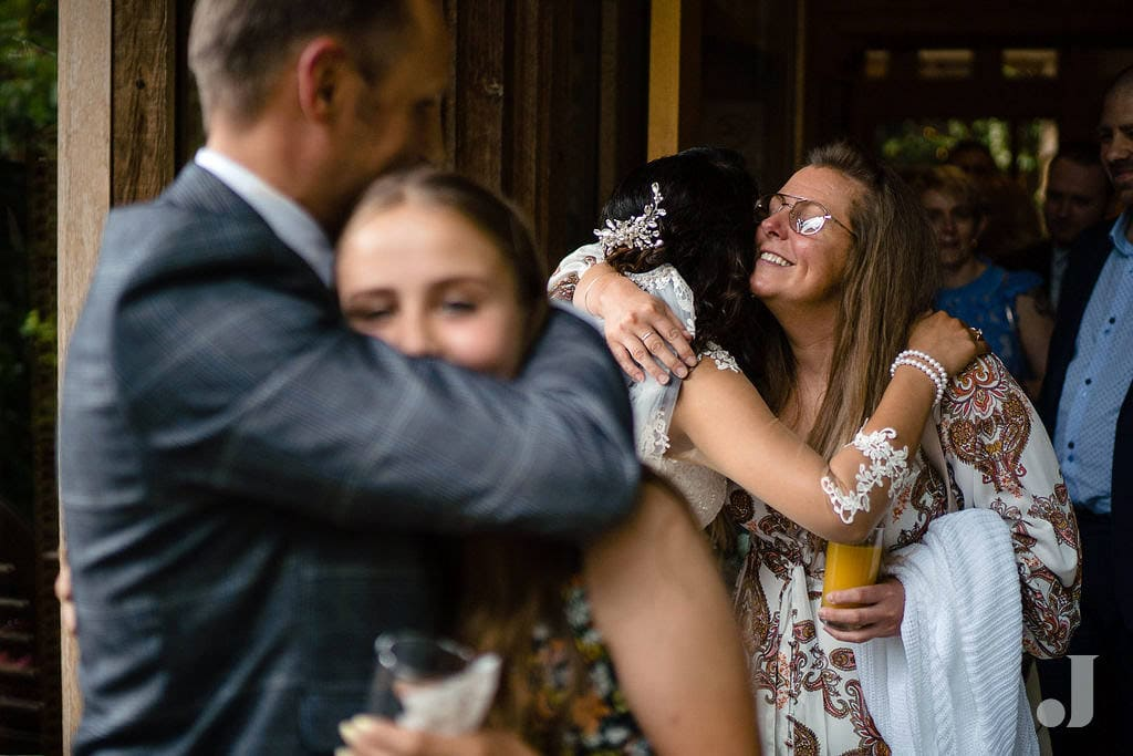 more hugs at oak tree of peover wedding