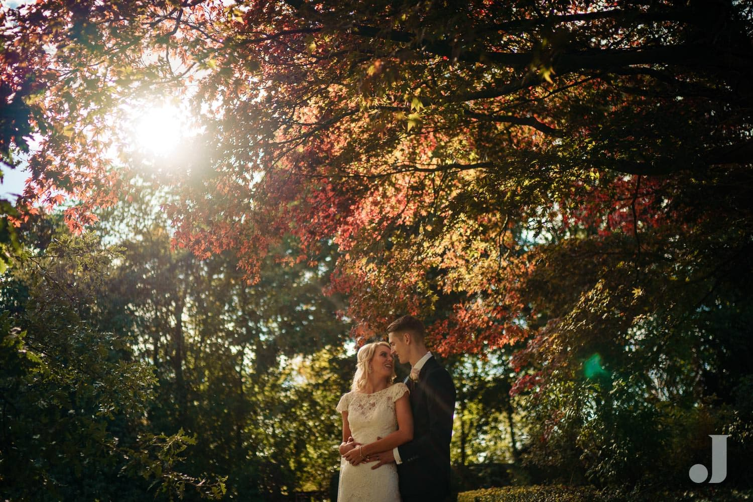 Late summer wedding at eaves hall