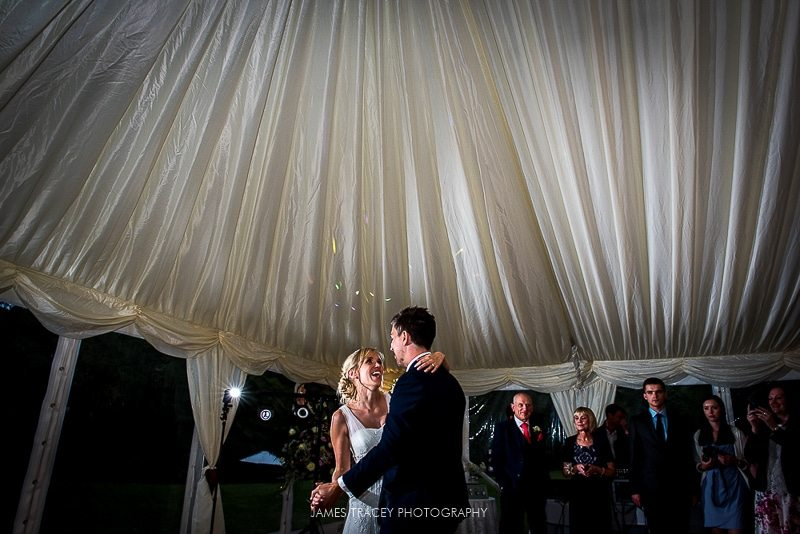 bride and groom first dance at plough inn hathersage wedding photography