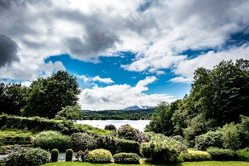 views of lake windermere from the samling hotel
