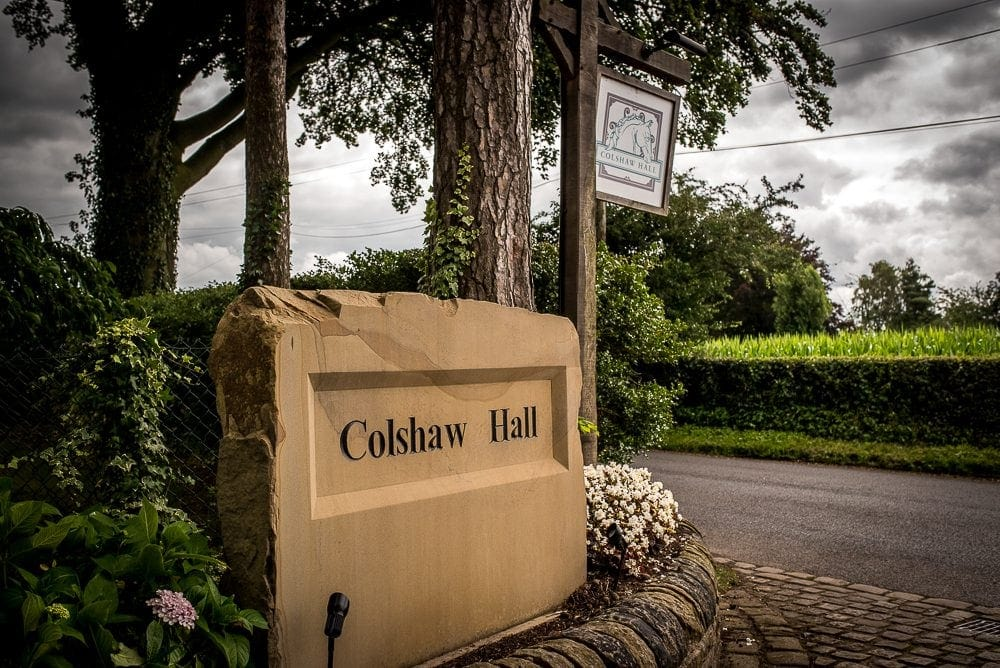 colshaw hall sign